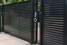Iron fences and gates