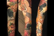japanese crane tattoo