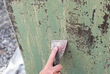 how to create chippy patina