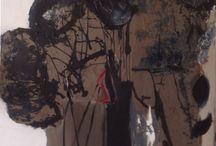 abstract acrylic & mixed media 100x100