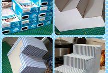 caixas recicladas