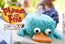 Phineas & Ferb / Phineas & Freb birthday party ideas & cakes