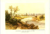 Las aldeas inglesas / Edmund Blunden.-- London : Adprint Limited, [ca. 1941] / Láminas a color incluidas en el libro.