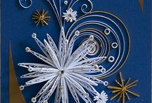 Christmas quilling cards