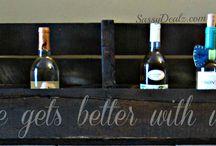 Wine rack stencil ideas