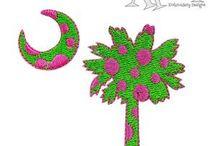 Beach Embroidery Designs