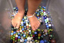 Sensorial / Canicas para los pies