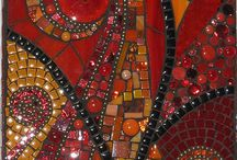 Mosaics / Inspiration for and finished fabrics for Lesley Riley's theme for The Printed Fabric Bee