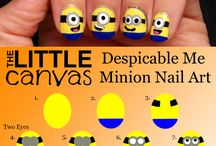 CUTE! Minion nail art