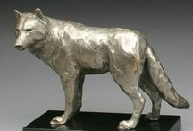 Sculpture Wolfes
