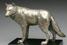 Sculpture Wolfes
