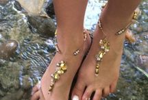 Crafts -Barefoot sandals, anklets