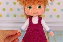 Dolls  crochet, knitting , kötött, horgolt babák