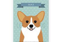 Lee ArtHaus Corgi Dog Products / Lee ArtHaus Corgi Dog Products