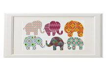 cats, elephant cross stitch
