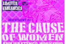 The cause of women / Conference and applied stencil workshop in Berlin