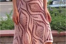 los 9 vestidosde encaje crochet