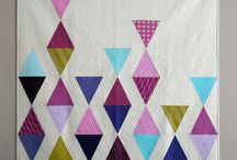 180 Degrees / Modern quilts made with triangles.