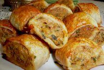Spicy chicken rolls