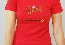 """Ladies / Figure it out tees are wearable intelligence. The picture on the front of the shirt tells a story for others to """"figure out."""" Ladies shirts are soft, comfy and fitted.  / by George Makriniotis"""