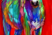 Renkli hayvan resimleri