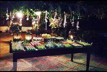 CUMPLE PILAR / Para el cumple de Pilar hicimos una cena cóctel, una decoración diferente con bombillas y flores y un montaje precioso, así nos quedo!