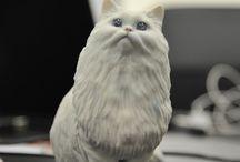 Cat figurine - Persian / 猫 フィギュア - ペルシャ / 3D PETSHOP http://www.3dpetshop.com