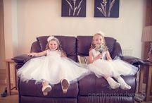 Flower Girls / Wedding photograph of flower girls
