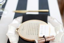 Event Planning: Vow Renewal / Israel & Judy Cohen's Anniversary Vow Renewal Celebration: Colors: Black & Gold Budget: $400 including food / by Liz Crawford