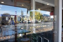 Adam Arnold Kitched and Bar / Ponsonby Road is famous for both its daytime cafés and evening bar scene. Adam Arnold Kitchen and Bar had to be a space that embraces both identities.
