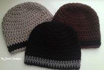 Crochet men size beanie