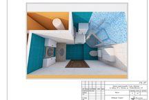 Дизайн квартиры / Перепланировка квартиры для проживания двух человек. Было - однушка, стало - двушка: гостиная, спальня, кухня, санузел. Общая площадь 50 м2, проект 2015 года. Общий дизайн помещений