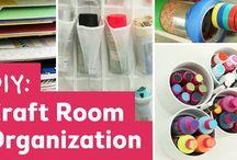 Craft supplies storage and Craft rooms