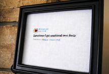 Stitched Kanye West Tweets / http://www.etsy.com/shop/supervelma
