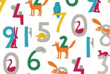 Animals & numbers / Papercut illustrations and pattern