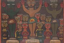 Paintings of JAMINI ROY / Jamini Roy (11 April 1887 – 24 April 1972) is an Indian painter. He is one of the most important painters of modern Indian art.