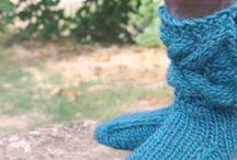 knitting slippers
