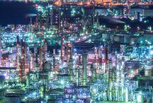 Factory night view / 工場夜景 Factory night view