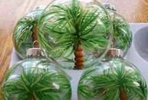 Christmas Ornaments / Beachy ornaments and ideas to make your Christmas more tropical