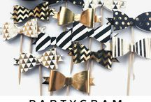 gold black party