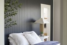 painted wood paneling wall