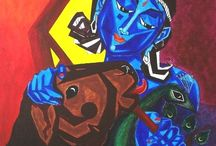 A.B. Ramprakash's Collections / Ramprakash is a self-taught artist who works in his own style and techniques. His bright colors and bold brush strokes are combination of abstraction and realism through which he tries to give a different thought process to the viewer and leaves an effective impact on his mind. You can Buy his artworks from IndianArtIdeas.in.