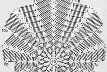 hojas a crochet.