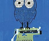 typewriter, paper, and print
