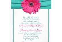 Turquoise and pink wedding / Wedding flowers