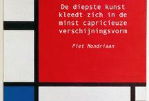 Mondriaan-kunstlessen beeldend
