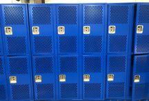 Amon Carter - Riverside HS - Fort Worth, TX #DeBourgh #Lockers / #Corregidoor #RoyalBlue #SentryTwoLatch #PianoHinge #DiamondPerforation #ClosedBase