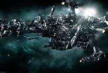 Rattletrap / Novel. Submitted. The crew of a beat-up mining ship that's been boarded by aliens  must adapt or die.