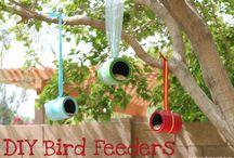 Bird feeders / Vogelvoederideetjes