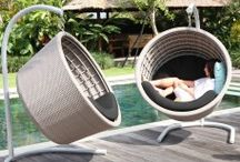 Hanging Garden Pod Chairs / Hanging Pod Chairs & Garden Hanging Chair with leading Skyline Design for your garden and outdoor space at Posh Garden Furniture.  #skylinedesigns